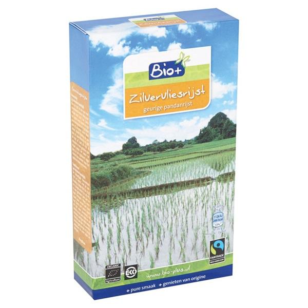 Bio+ Rijst Zilvervlies achterkant