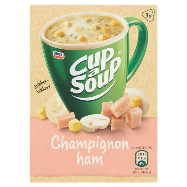 Unox Cup-a-Soup Soep Champignon/Ham voorkant