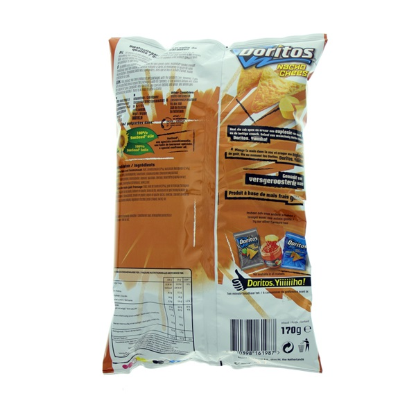 Doritos Chips Nacho Cheese achterkant