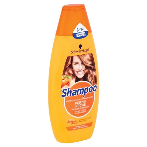 Schwarzkopf Shampoo Perzik achterkant