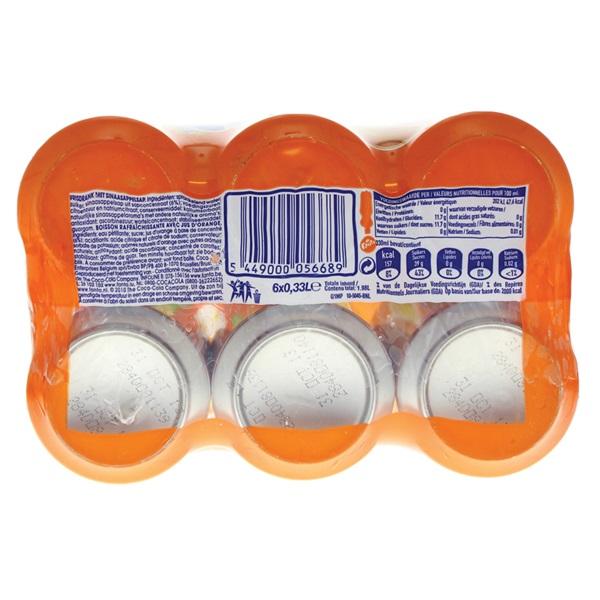 Fanta Sinas Orange 6x33cl achterkant