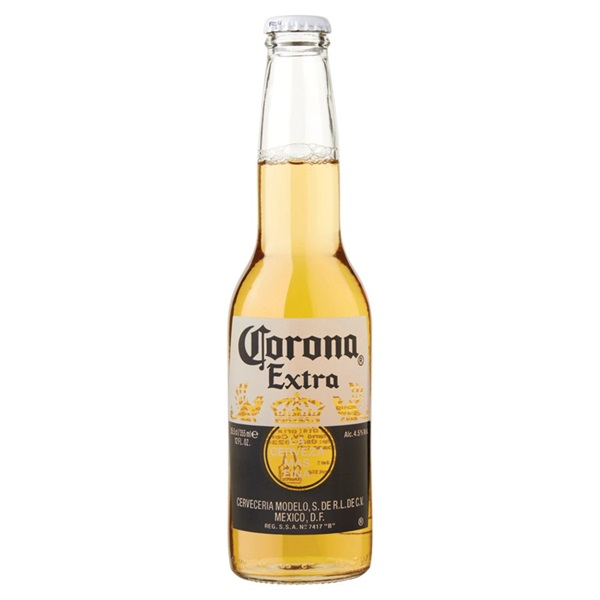 Corona Bier achterkant