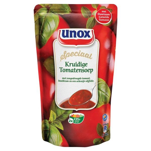 Unox Soep In Zak Kruidige Tomaat voorkant