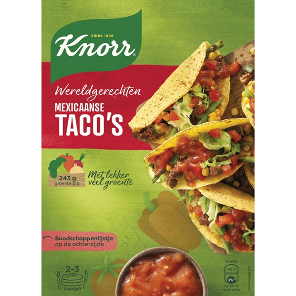 Knorr Wereldgerechten Taco'S voorkant