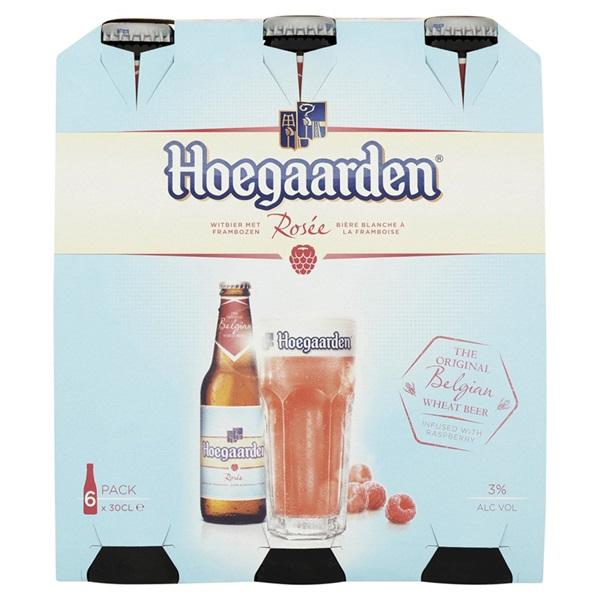 Hoegaarden Bier Rose  Bierfles  6X30Cl voorkant