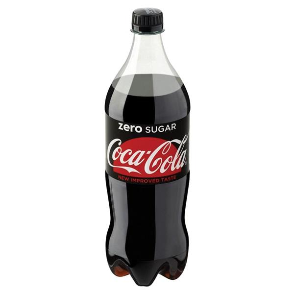 Coca Cola Zero Fles 1 Liter achterkant