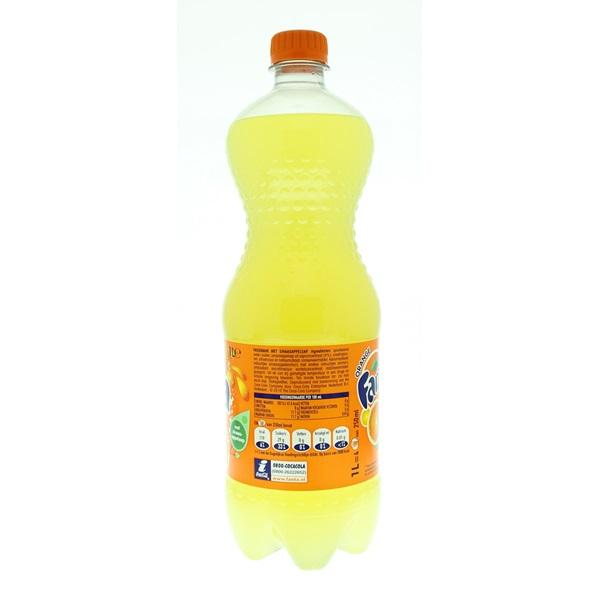 Fanta Orange Sinas Fles 1 Liter achterkant
