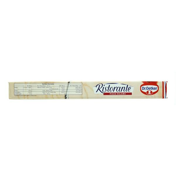 Dr. Oetker Ristorante Pizza Salami achterkant