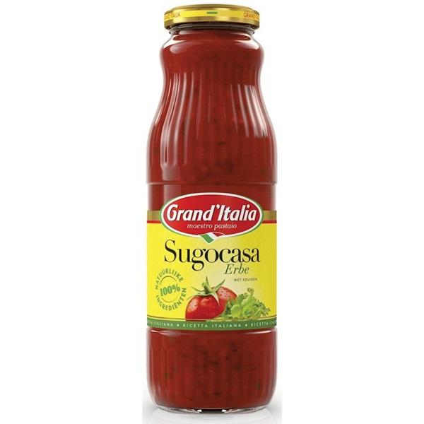 Grand'Italia Pastasaus Sugocasa Kruiden voorkant