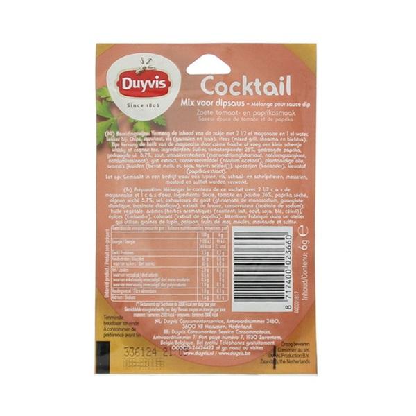 Duyvis Dipsaus Cocktail achterkant