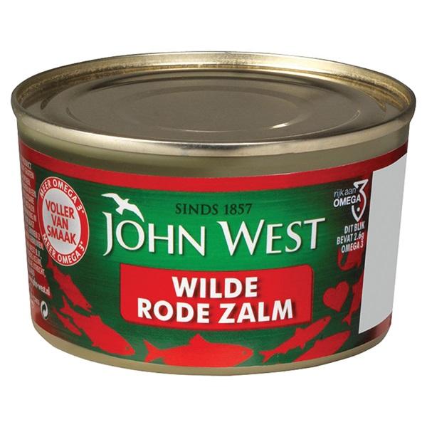 John West Rode Zalm achterkant