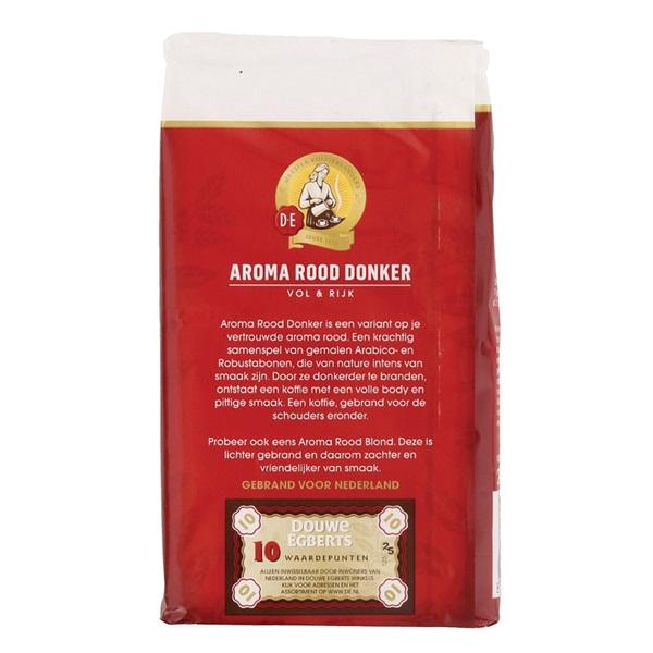 Douwe Egberts Koffie Aroma Donker achterkant