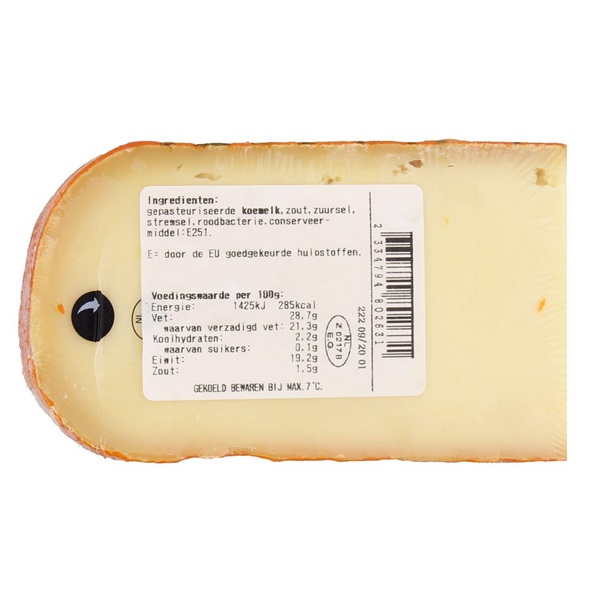 Spar Hollandse Kaas Doruvael achterkant