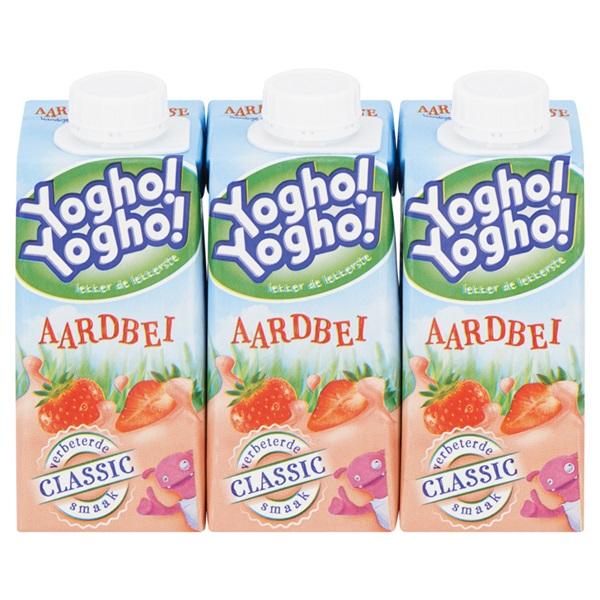 Yogho Yogho Drinkyoghurt Aardbei Mini voorkant