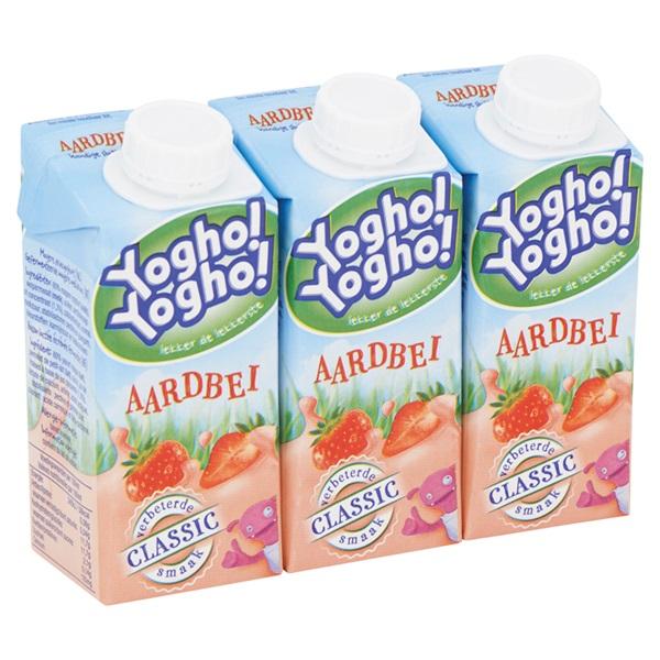 Yogho Yogho Drinkyoghurt Aardbei Mini achterkant