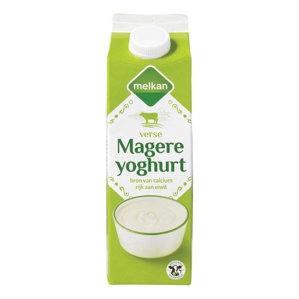 Melkan Yoghurt Mager voorkant