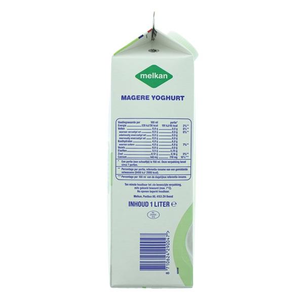 Melkan Yoghurt Mager achterkant