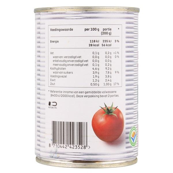 Spar tomatenblokjes kruiden achterkant