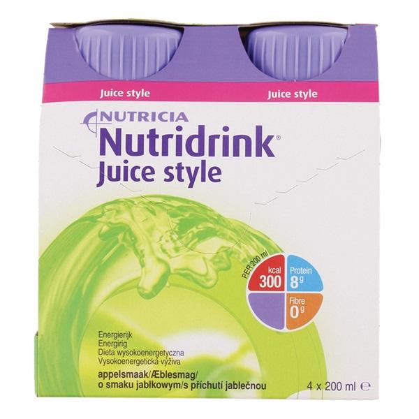 Nutricia Juice Style Appel 4x200 ml voorkant