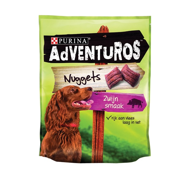 Adventuros Hondensnacks Nuggets voorkant