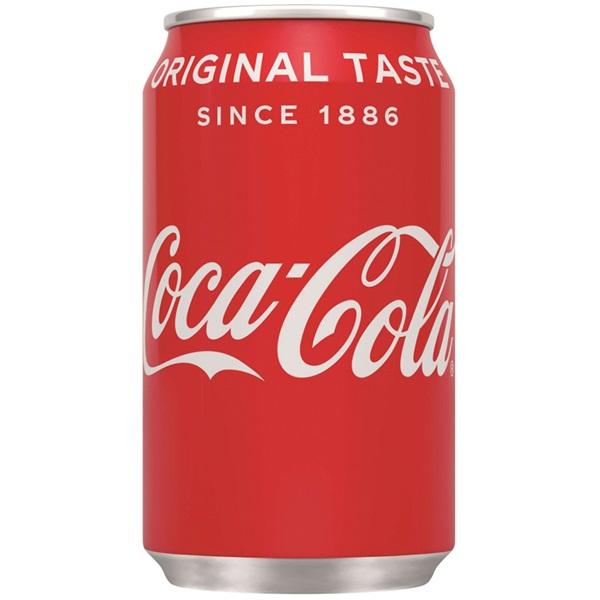 Coca Cola regular blik 33cl voorkant