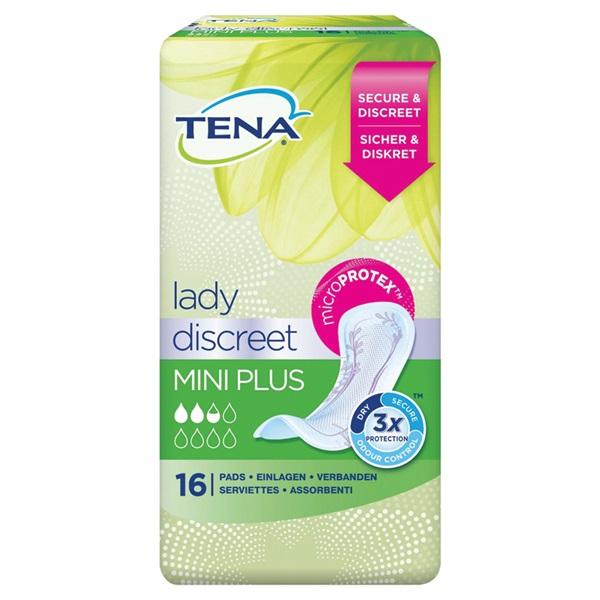 Tena Lady Incontinentie Verband Mini Plus voorkant
