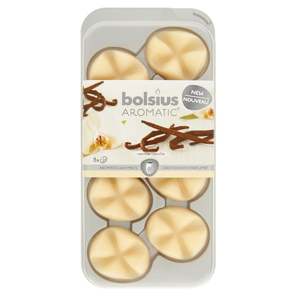 Bolsius Aromatic Wax Melts Vanille voorkant