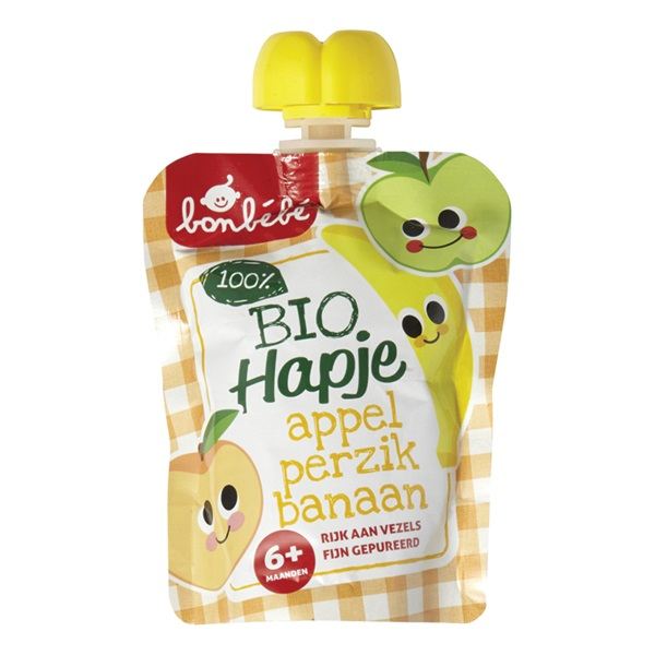 Bonbébé Babyvoeding Appel-Perzik-Banaan voorkant