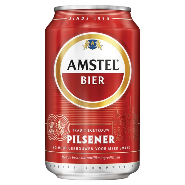 Amstel Bier Blik 33cl voorkant
