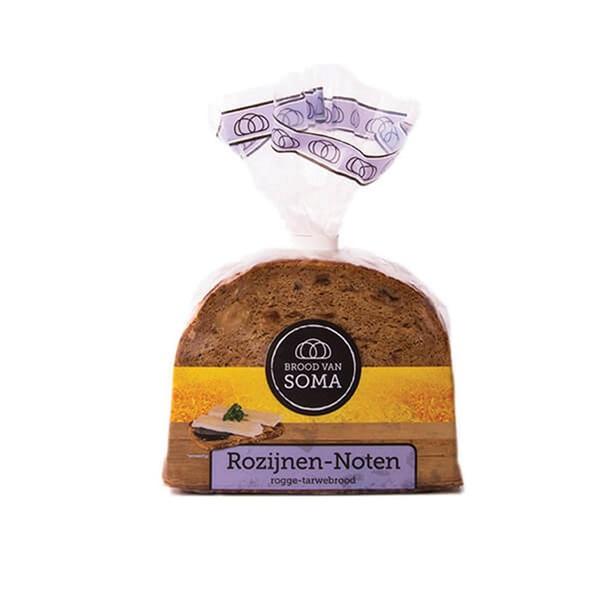 Soma Roggebrood rozijnen noten voorkant