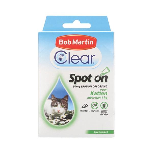 Clear Vlooiendruppels Kat voorkant