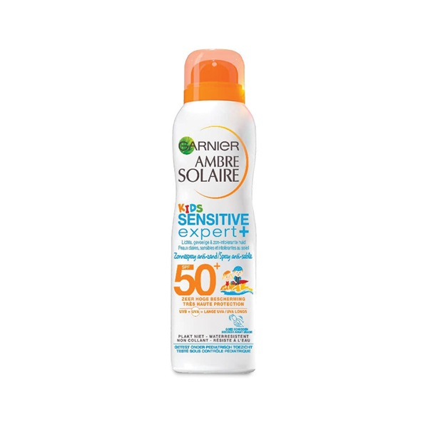 Ambre Solaire Kids Zonnebrand Protect Spray Anti Sand factor 50 voorkant