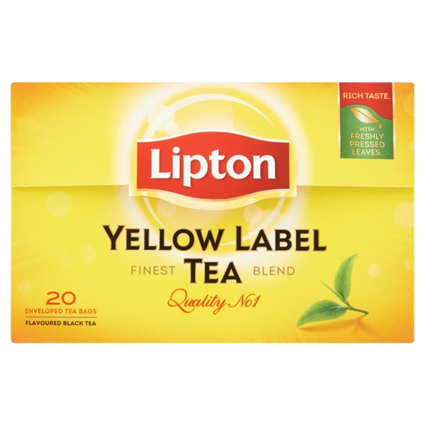 Lipton Thee Yellow  Label voorkant
