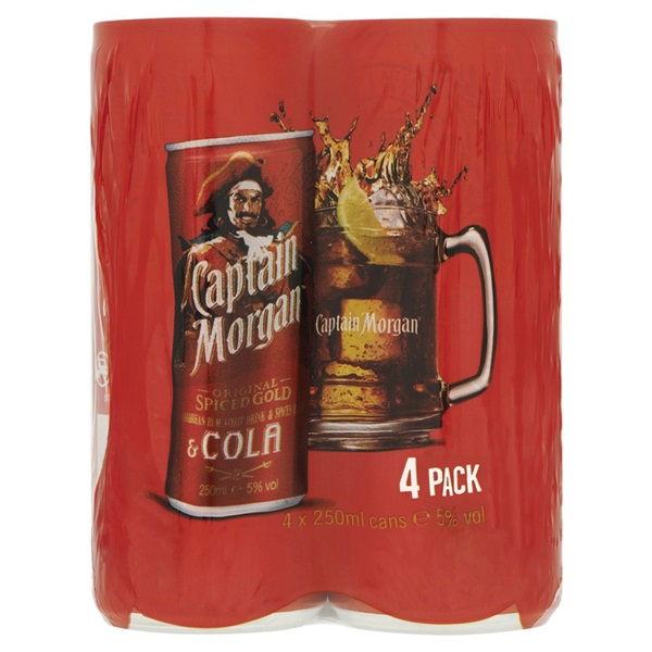 Captain Morgan Rum & Cola voorkant