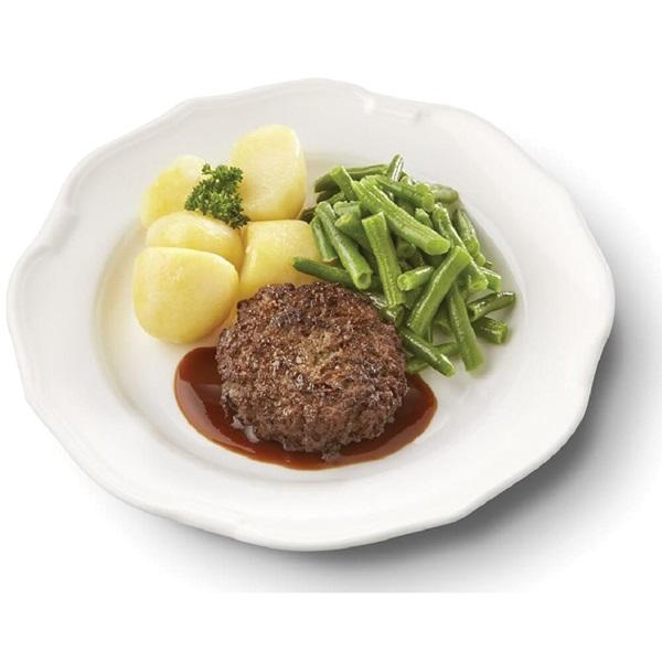 Culivers (79) rundertartaartje met jus, sperziebonen en gekookte aardappelen zoutarm  voorkant