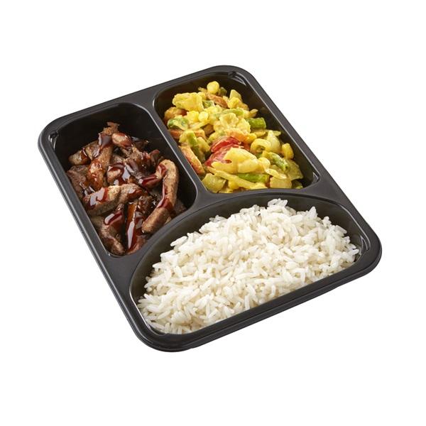 Culivers (108) babi ketjap, karee djawa en witte rijst zoutarm achterkant