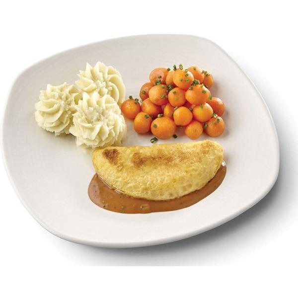 Culivers (19) omelet champignon in provencaalse saus, parijse worteltjes en aardappelpuree gluten- en lactosevrij voorkant