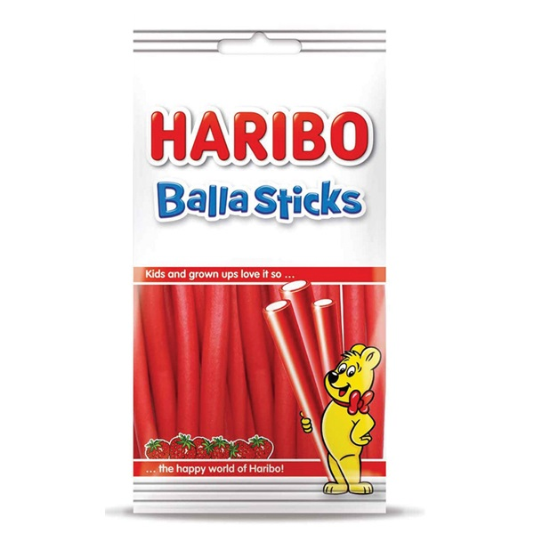 Haribo Ballasticks Aardbei voorkant