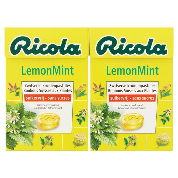 Ricola Keelpastilles Lemon Mint voorkant