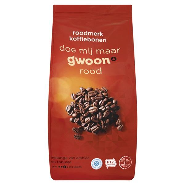 Gwoon koffiebonen rood voorkant