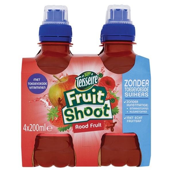 Teisseire Fruitshoot rood fruit 0% voorkant