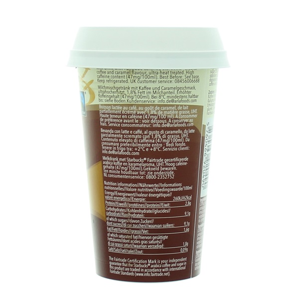 Starbucks chilled classics caramel macchiato achterkant