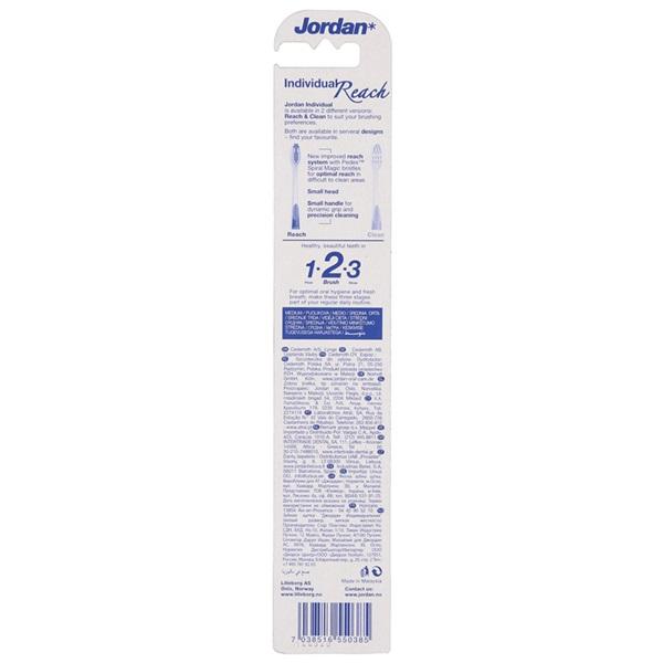 Jordan Tandenborstel Individual Reach Medium achterkant