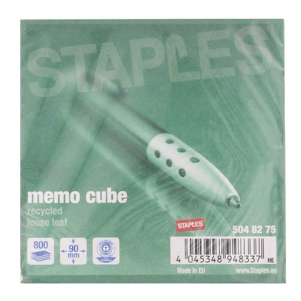 Navulling kubusblok Wit voorkant