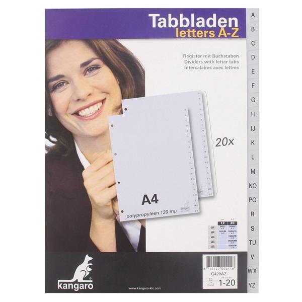 Tabblad A/Z 4rings voorkant