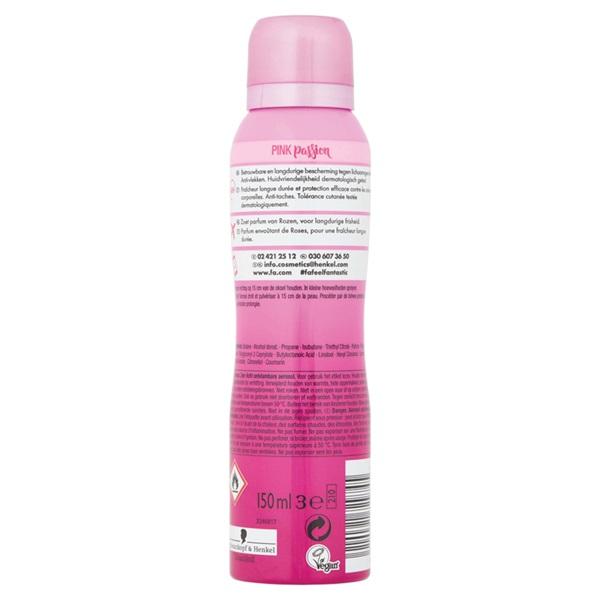 Fa Deodorant spray Pink Passion achterkant