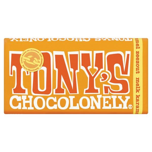 Tony's chocolonely Melk Karamel Zout voorkant