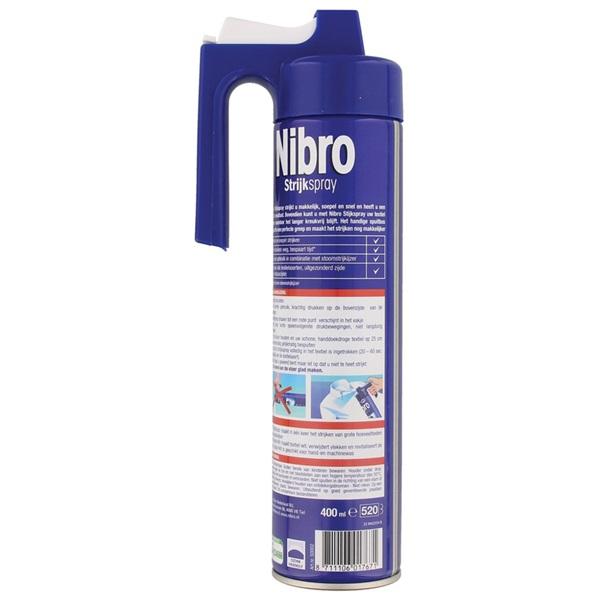 Nibro Strijkwater Spray achterkant