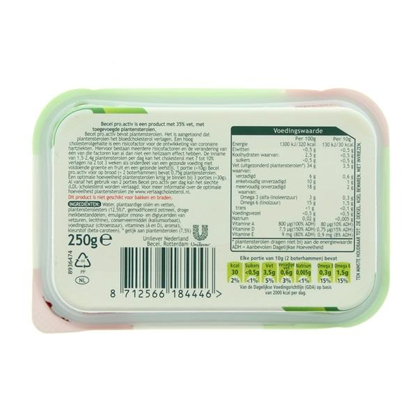 Becel Pro-Activ Margarine achterkant