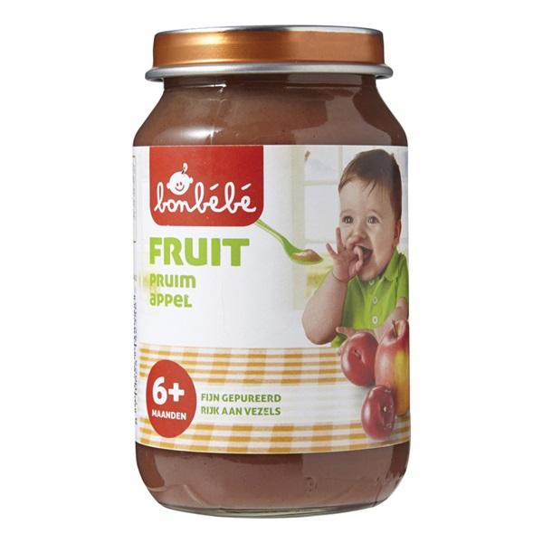 Bonbébé Baby/Peuter Fruithapje Pruim En Appel voorkant
